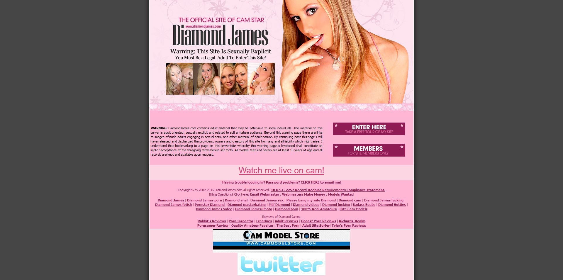 Diamond James Adult Live Sex Cam Pornstar