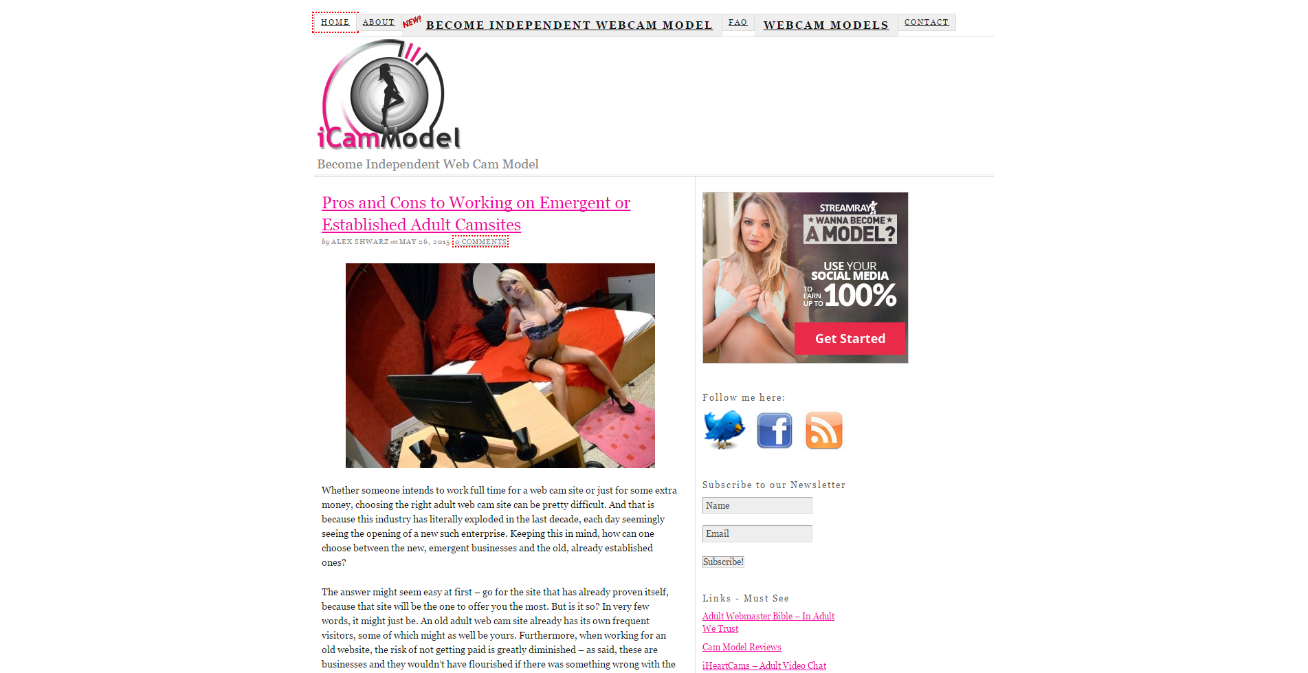 iCamModel - Become an Independent Web Cam Model
