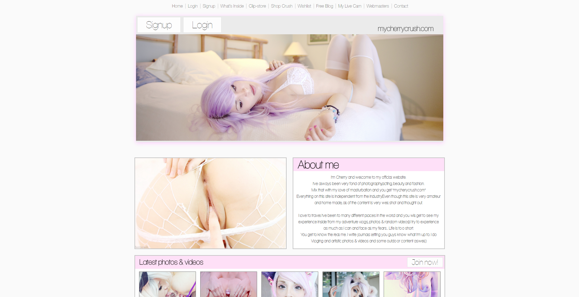 mycherrycrush website